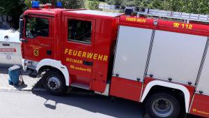 Die Feuerwehren Ehringsdorf und Taubach waren mit vor Ort